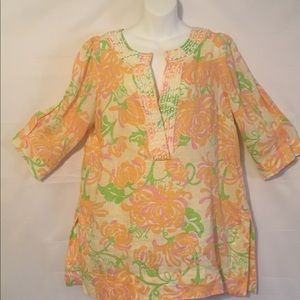 Lilly Pulitzer Boho Blouse (M). Gently used.